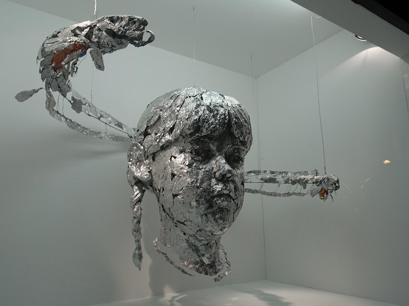 Sculpture Grillage A Poule laurent esquerré. les poissons de l'air - voir & dire